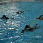 北硫黄島上陸向けたプール訓練